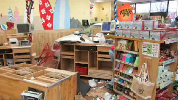 Over a dozen people were injured after a car drove into a Trader Joe's in Oceanside, Long Island on Friday afternoon.