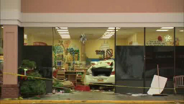 A car drove into a Trader Joe's in Oceanside, Long Island on Friday afternoon.