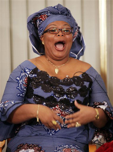 Liberian peace activist Leymah Gbowee laughs during a press conference at the Nobel Institute in Oslo, Norway, Friday Dec. 9, 2011. Gbowee will receive the 2011 Nobel Peace Prize on Saturday with Liberian president Ellen Johnson-Sirleaf and human rights activist Tawakkol Karman of Yemen for their non-violent struggle for the safety of women and for women&#39;s rights to full participation in peace-building work. &#40;AP Photo&#47;John McConnico&#41; <span class=meta>(AP Photo&#47; JOHN MCCONNICO)</span>