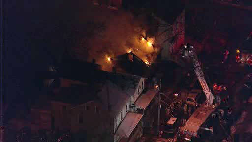 "<div class=""meta ""><span class=""caption-text "">Firefighters battled a 2nd alarm fire in downtown New Brunswick, New Jersey.</span></div>"
