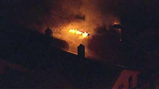 Firefighters battled a 2nd alarm fire in downtown New Brunswick, New Jersey.