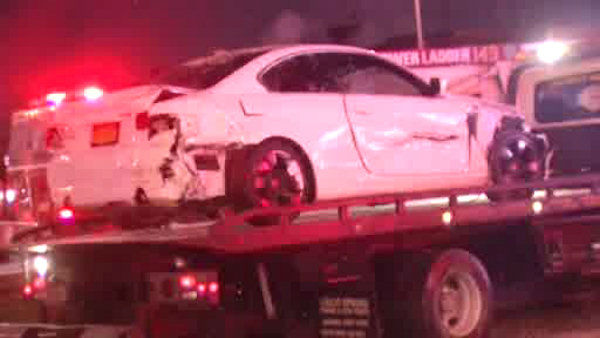 There was a huge pileup involving more than 30 cars on the Gowanus Expressway in Brooklyn on Tuesday night. <span class=meta>(WABC Photo)</span>