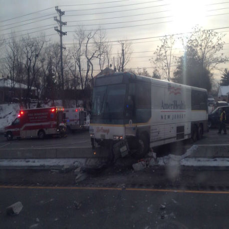 Injuries were reported in a bus accident that took place in Clifton, New Jersey on Thursday.