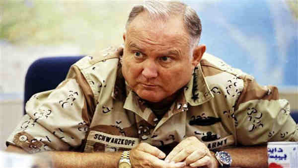"<div class=""meta ""><span class=""caption-text "">FILE - In this Sept. 14, 1990 file photo, U.S. Army Gen. H. Norman Schwarzkopf, commander of U.S. forces in Saudi Arabia, answers questions during an interview in Riyadh. Schwarzkopf died Thursday, Dec. 27, 2012 in Tampa, Fla. He was 78.  ((AP Photo/David Longstreath, File))</span></div>"