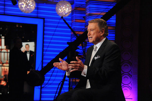 Regis Philbin during his final appearance on &#34;Live! with Regis and Kelly,&#34; Friday, Nov. 18, 2011 in New York.  <span class=meta>(Disney-ABC Domestic Television, David Russell)</span>