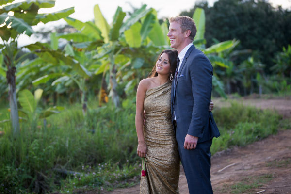 "<div class=""meta ""><span class=""caption-text "">THE BACHELOR: SEAN AND CATHERINE'S WEDDING - Sean Lowe and Catherine Giudici, the latest to join other ""Bachelor"" couples who have walked down the aisle, will share a dramatic new chapter of their love story with millions of viewers and Bachelor Nation when ABC televises their much anticipated wedding - live, on ""The Bachelor: Sean and Catherine's Wedding,"" SUNDAY, JANUARY 26, 2014 (8:00-10:00 p.m., ET), on the ABC Television Network. This will mark the first time ever a ""Bachelor"" wedding has been telecast live. (ABC/Dave Hagerman) CATHERINE GIUDICI, SEAN LOWE (ABC Photo/ Dave Hagerman)</span></div>"