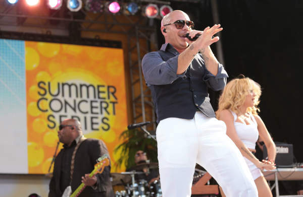 GOOD MORNING AMERICA - Pitbull performs live at the GMA Summer Concert Series, from Central Park in New York City, on &#34;Good Morning America,&#34; 5&#47;31&#47;13, airing on the ABC Television Network.   &#40;ABC&#47;Fred Lee&#41; PITBULL <span class=meta>(ABC Photo&#47; Fred Lee)</span>