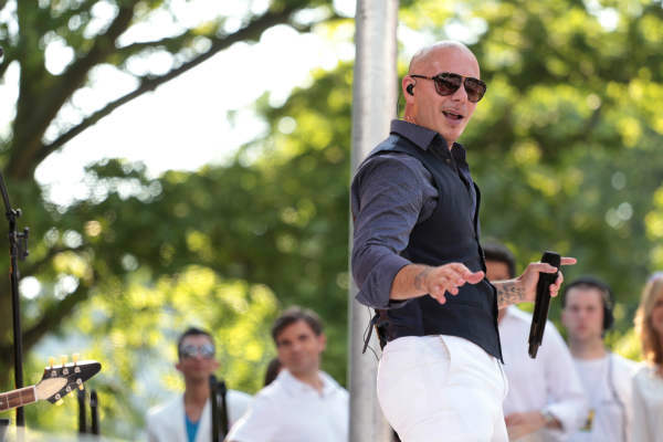 "<div class=""meta ""><span class=""caption-text "">GOOD MORNING AMERICA - Pitbull performs live at the GMA Summer Concert Series, from Central Park in New York City, on ""Good Morning America,"" 5/31/13, airing on the ABC Television Network.   (ABC/Fred Lee) PITBULL (ABC Photo/ Fred Lee)</span></div>"