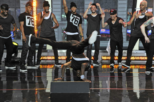 "<div class=""meta ""><span class=""caption-text "">GOOD MORNING AMERICA - Little Mix and Emblem3 perform live on ""Good Morning America,"" 6/7/13, airing on the ABC Television Network on the ABC Television Network.   (ABC/Donna Svennevik) DANCERS (ABC Photo/ Donna Svennevik)</span></div>"
