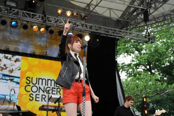 "<div class=""meta ""><span class=""caption-text "">GOOD MORNING AMERICA - Carly Rae Jepsen performs live from Central Park on ""Good Morning America,"" 6/14/13, airing on the ABC Television Network on the ABC Television Network.   (ABC/Donna Svennevik) CARLY RAE JEPSEN (ABC Photo/ Donna Svennevik)</span></div>"