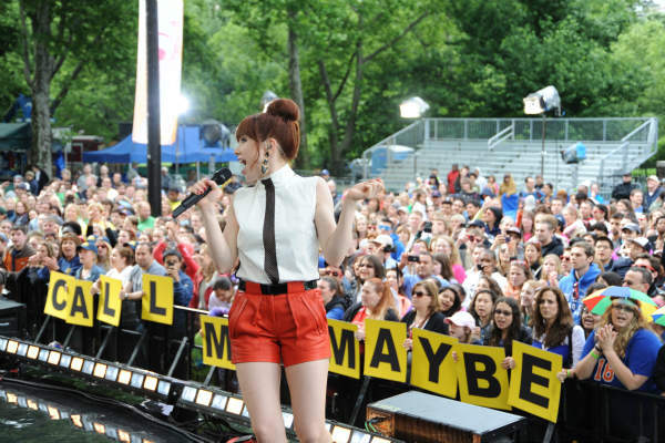 "<div class=""meta ""><span class=""caption-text "">GOOD MORNING AMERICA - Carly Rae Jepsen performs live from Central Park on ""Good Morning America,"" 6/14/13, airing on the ABC Television Network on the ABC Television Network.   (ABC/Donna Svennevik) CARLY RAE JEPSEN (Photo/Donna Svennevik)</span></div>"