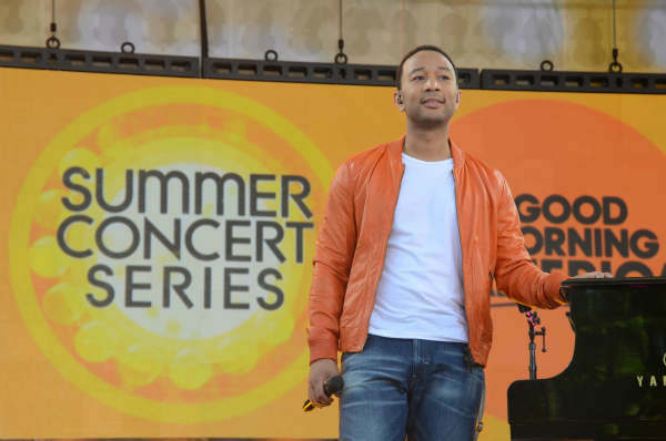 GOOD MORNING AMERICA - Coverage of the GMA Summer Concert Series in Central Park with John Legend performing on GOOD MORNING AMERICA, 6&#47;21&#47;13, airing on the ABC Television Network.   &#40;ABC&#47;Ida Mae Astute&#41;  JOHN LEGEND <span class=meta>(Photo&#47;Ida Mae Astute)</span>