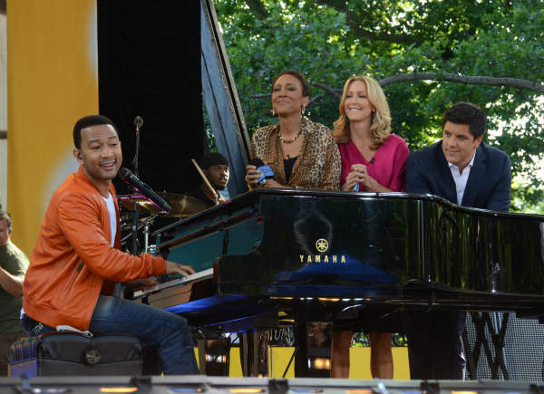 "<div class=""meta image-caption""><div class=""origin-logo origin-image ""><span></span></div><span class=""caption-text"">GOOD MORNING AMERICA - Coverage of the GMA Summer Concert Series in Central Park with John Legend performing on GOOD MORNING AMERICA, 6/21/13, airing on the ABC Television Network.   (ABC/Ida Mae Astute)  JOHN LEGEND, ROBIN ROBERTS, LARA SPENCER, JOSH ELLIOTT (Photo/Ida Mae Astute)</span></div>"