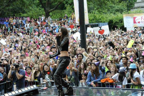 "<div class=""meta image-caption""><div class=""origin-logo origin-image ""><span></span></div><span class=""caption-text"">GOOD MORNING AMERICA - Selena Gomez celebrates her 21st birthday with a concert in Central Park as part of the GMA Summer Concert Series, on GOOD MORNING AMERICA, 7/26/13, airing on the ABC Television Network.   (ABC/Donna Svennevik)  SELENA GOMEZ (ABC Photo/ Donna Svennevik)</span></div>"