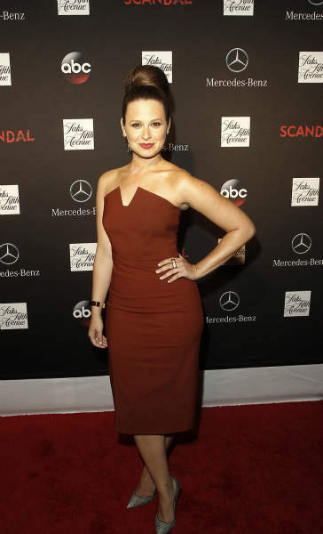 "<div class=""meta ""><span class=""caption-text "">SCANDAL - ""Scandal"" stars Kerry Washington, Scott Foley, Guillermo Diaz, Katie Lowes, Darby Stanchfield and Josh Malina along with creator and Executive Producer Shonda Rhimes, Executive Producer Betsy Beers, and Emmy Winning Wardrobe Designer Lyn Paolo, celebrated the season 3 premiere and Scandal window installation at Saks 5th Avenue in NYC on Wednesday, October 2. The hit series, from ABC Studios, premieres Thursday, October 3 (10:00-11:00 p.m., ET) on the ABC Television Network. (ABC/Lou Rocco) KATIE LOWES (ABC Photo/ Lou Rocco)</span></div>"