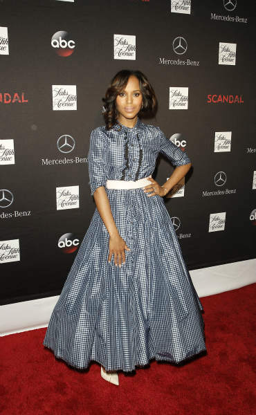 "<div class=""meta ""><span class=""caption-text "">SCANDAL - ""Scandal"" stars Kerry Washington, Scott Foley, Guillermo Diaz, Katie Lowes, Darby Stanchfield and Josh Malina along with creator and Executive Producer Shonda Rhimes, Executive Producer Betsy Beers, and Emmy Winning Wardrobe Designer Lyn Paolo, celebrated the season 3 premiere and Scandal window installation at Saks 5th Avenue in NYC on Wednesday, October 2. The hit series, from ABC Studios, premieres Thursday, October 3 (10:00-11:00 p.m., ET) on the ABC Television Network. (ABC/Lou Rocco) KERRY WASHINGTON (ABC Photo/ Lou Rocco)</span></div>"