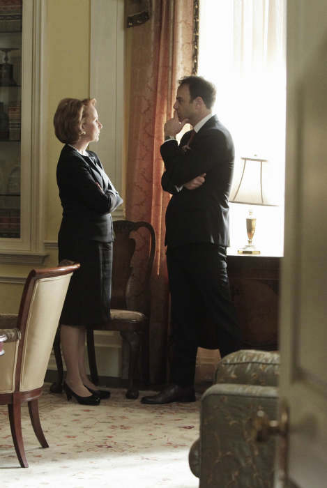 SCANDAL - &#34;Ride, Sally, Ride&#34; - The White House deals with a bombshell announcement from Sally Langston. Meanwhile, Olivia finds herself in a challenging new role, on ABC&#39;s &#34;Scandal,&#34; THURSDAY, FEBRUARY 27 &#40;10:00-11:00 p.m., ET&#41; on the ABC Television Network. &#40;ABC&#47;Nicole Wilder&#41; KATE BURTON, PAUL ADELSTEIN <span class=meta>(Photo&#47;Nicole Wilder)</span>