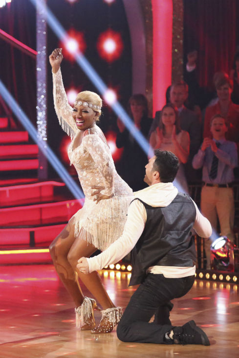 "<div class=""meta ""><span class=""caption-text "">DANCING WITH THE STARS - ""Episode 1801"" - Each couple performed a Cha Cha, Foxtrot or Contemporary routine, vying for America's vote. The two-hour season premiere of ""Dancing with the Stars"" began MONDAY, MARCH 17 (8:00-10:01 p.m., ET) on the ABC Television Network. (ABC/Adam Taylor) NENE LEAKES, TONY DOVOLANI (Photo/Adam Taylor)</span></div>"
