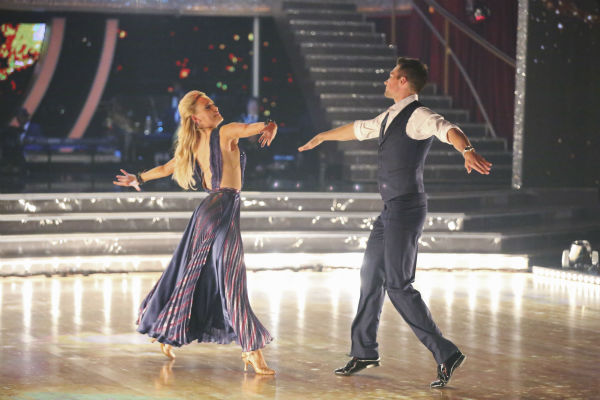 "<div class=""meta image-caption""><div class=""origin-logo origin-image ""><span></span></div><span class=""caption-text"">DANCING WITH THE STARS - ""Episode 1801"" - Each couple performed a Cha Cha, Foxtrot or Contemporary routine, vying for America's vote. The two-hour season premiere of ""Dancing with the Stars"" began MONDAY, MARCH 17 (8:00-10:01 p.m., ET) on the ABC Television Network. (ABC/Adam Taylor) PETA MURGATROYD, JAMES MASLOW (ABC Photo/ Adam Taylor)</span></div>"