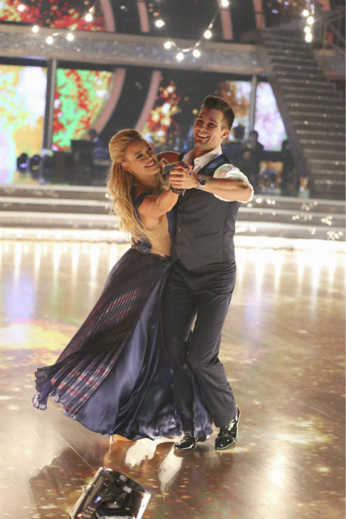 "<div class=""meta ""><span class=""caption-text "">DANCING WITH THE STARS - ""Episode 1801"" - Each couple performed a Cha Cha, Foxtrot or Contemporary routine, vying for America's vote. The two-hour season premiere of ""Dancing with the Stars"" began MONDAY, MARCH 17 (8:00-10:01 p.m., ET) on the ABC Television Network. (ABC/Adam Taylor) PETA MURGATROYD, JAMES MASLOW (ABC Photo/ Adam Taylor)</span></div>"