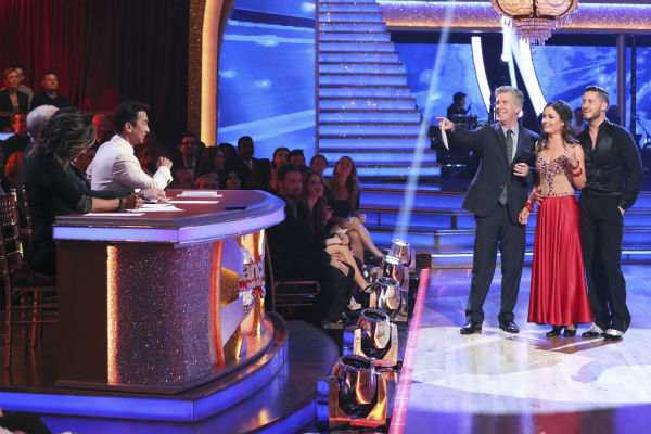 "<div class=""meta ""><span class=""caption-text "">DANCING WITH THE STARS - ""Episode 1801"" - Each couple performed a Cha Cha, Foxtrot or Contemporary routine, vying for America's vote. The two-hour season premiere of ""Dancing with the Stars"" began MONDAY, MARCH 17 (8:00-10:01 p.m., ET) on the ABC Television Network. (ABC/Adam Taylor) CARRIE ANN INABA, LEN GOODMAN (OBSCURED), BRUNO TONIOLI, TOM BERGERON, DANICA MCKELLAR, VALENTIN CHMERKOVSKIY (Photo/Adam Taylor)</span></div>"