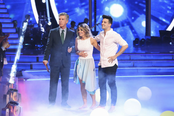 "<div class=""meta ""><span class=""caption-text "">DANCING WITH THE STARS - ""Episode 1801"" - Each couple performed a Cha Cha, Foxtrot or Contemporary routine, vying for America's vote. The two-hour season premiere of ""Dancing with the Stars"" began MONDAY, MARCH 17 (8:00-10:01 p.m., ET) on the ABC Television Network. (ABC/Adam Taylor) TOM BERGERON, CANDACE CAMERON BURE, MARK BALLAS (Photo/Adam Taylor)</span></div>"