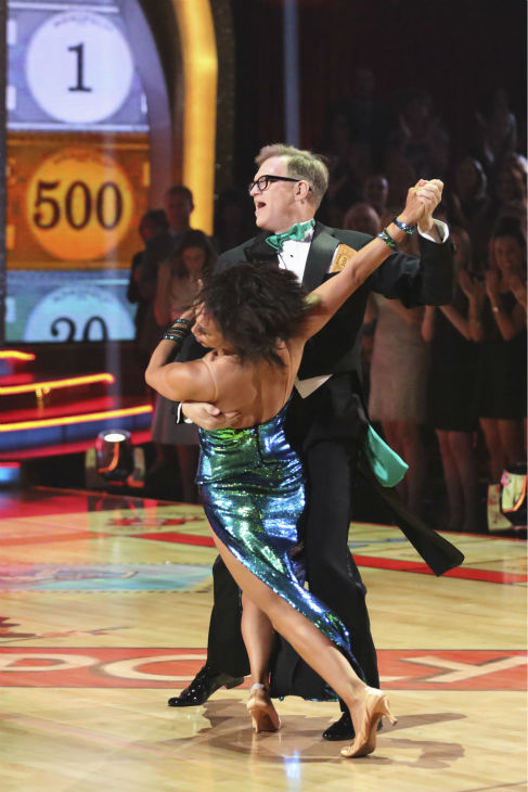 DANCING WITH THE STARS - &#34;Episode 1801&#34; - Each couple performed a Cha Cha, Foxtrot or Contemporary routine, vying for America&#39;s vote. The two-hour season premiere of &#34;Dancing with the Stars&#34; began MONDAY, MARCH 17 &#40;8:00-10:01 p.m., ET&#41; on the ABC Television Network. &#40;ABC&#47;Adam Taylor&#41; CHERYL BURKE, DREW CAREY <span class=meta>(Photo&#47;Adam Taylor)</span>