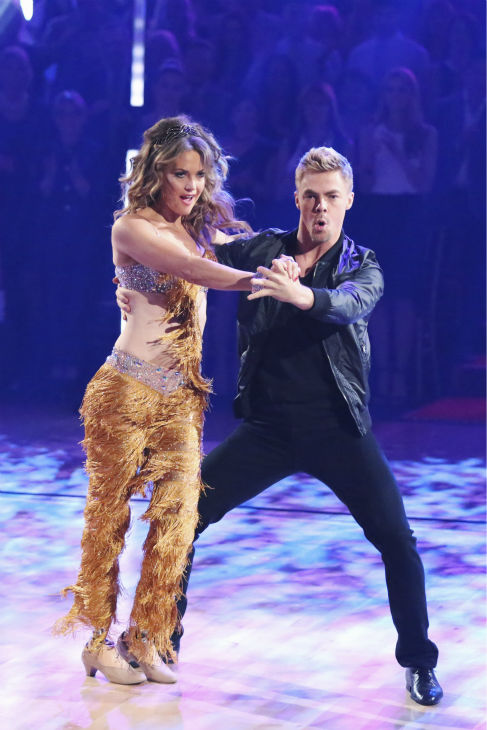 "<div class=""meta ""><span class=""caption-text "">DANCING WITH THE STARS - ""Episode 1801"" - Each couple performed a Cha Cha, Foxtrot or Contemporary routine, vying for America's vote. The two-hour season premiere of ""Dancing with the Stars"" began MONDAY, MARCH 17 (8:00-10:01 p.m., ET) on the ABC Television Network. (ABC/Adam Taylor) AMY PURDY, DEREK HOUGH (ABC Photo/ Adam Taylor)</span></div>"