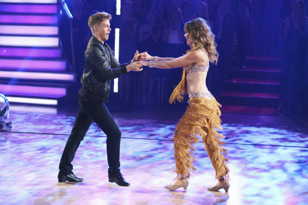"<div class=""meta image-caption""><div class=""origin-logo origin-image ""><span></span></div><span class=""caption-text"">DANCING WITH THE STARS - ""Episode 1801"" - Each couple performed a Cha Cha, Foxtrot or Contemporary routine, vying for America's vote. The two-hour season premiere of ""Dancing with the Stars"" began MONDAY, MARCH 17 (8:00-10:01 p.m., ET) on the ABC Television Network. (ABC/Adam Taylor) DEREK HOUGH, AMY PURDY (ABC Photo/ Adam Taylor)</span></div>"