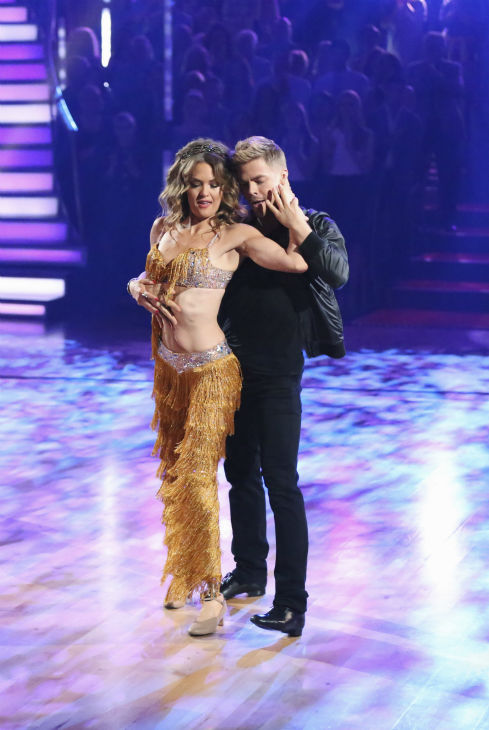 "<div class=""meta image-caption""><div class=""origin-logo origin-image ""><span></span></div><span class=""caption-text"">DANCING WITH THE STARS - ""Episode 1801"" - Each couple performed a Cha Cha, Foxtrot or Contemporary routine, vying for America's vote. The two-hour season premiere of ""Dancing with the Stars"" began MONDAY, MARCH 17 (8:00-10:01 p.m., ET) on the ABC Television Network. (ABC/Adam Taylor) AMY PURDY, DEREK HOUGH (ABC Photo/ Adam Taylor)</span></div>"
