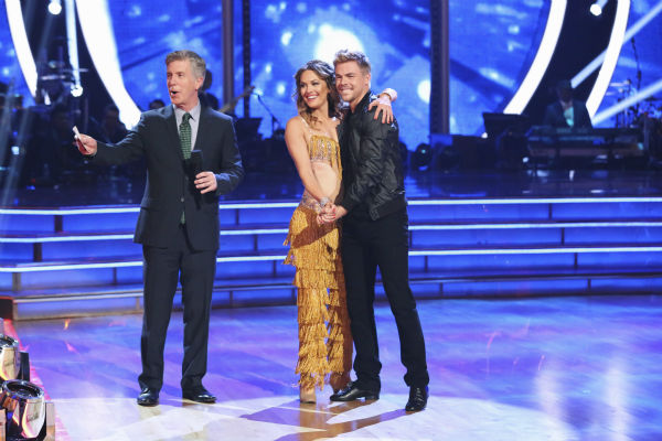 "<div class=""meta image-caption""><div class=""origin-logo origin-image ""><span></span></div><span class=""caption-text"">DANCING WITH THE STARS - ""Episode 1801"" - Each couple performed a Cha Cha, Foxtrot or Contemporary routine, vying for America's vote. The two-hour season premiere of ""Dancing with the Stars"" began MONDAY, MARCH 17 (8:00-10:01 p.m., ET) on the ABC Television Network. (ABC/Adam Taylor) TOM BERGERON, AMY PURDY, DEREK HOUGH (ABC Photo/ Adam Taylor)</span></div>"