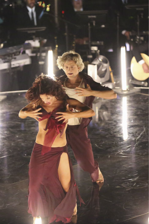 "<div class=""meta ""><span class=""caption-text "">DANCING WITH THE STARS - ""Episode 1801"" - Each couple performed a Cha Cha, Foxtrot or Contemporary routine, vying for America's vote. The two-hour season premiere of ""Dancing with the Stars"" began MONDAY, MARCH 17 (8:00-10:01 p.m., ET) on the ABC Television Network. (ABC/Adam Taylor) SHARNA BURGESS, CHARLIE WHITE (Photo/Adam Taylor)</span></div>"