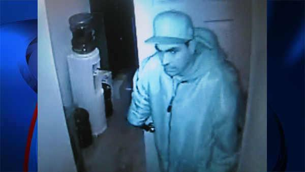 Surveillance video of burglary spree suspect