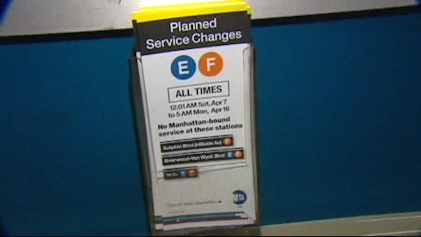 Subway disruptions begin in Queens