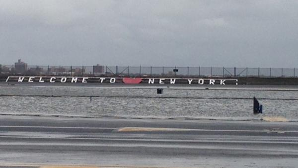 LaGuardia Airport is seen on Tuesday, Oct. 30, 2012 in New York, a day after Hurricane Sandy slammed the East Coast.