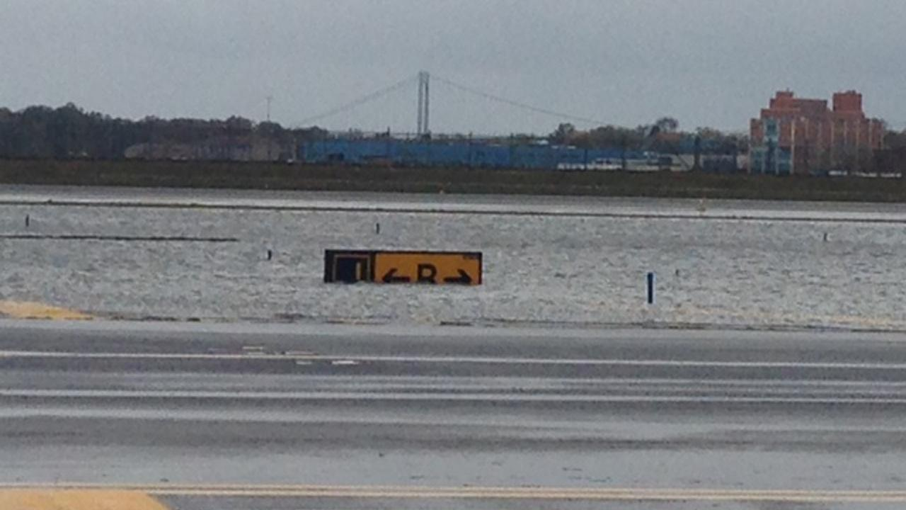 LaGuardia Airport is seen on Tuesday, Oct. 30, 2012 in New York, a day after Hurricane Sandy slammed the East Coast.JetBlue