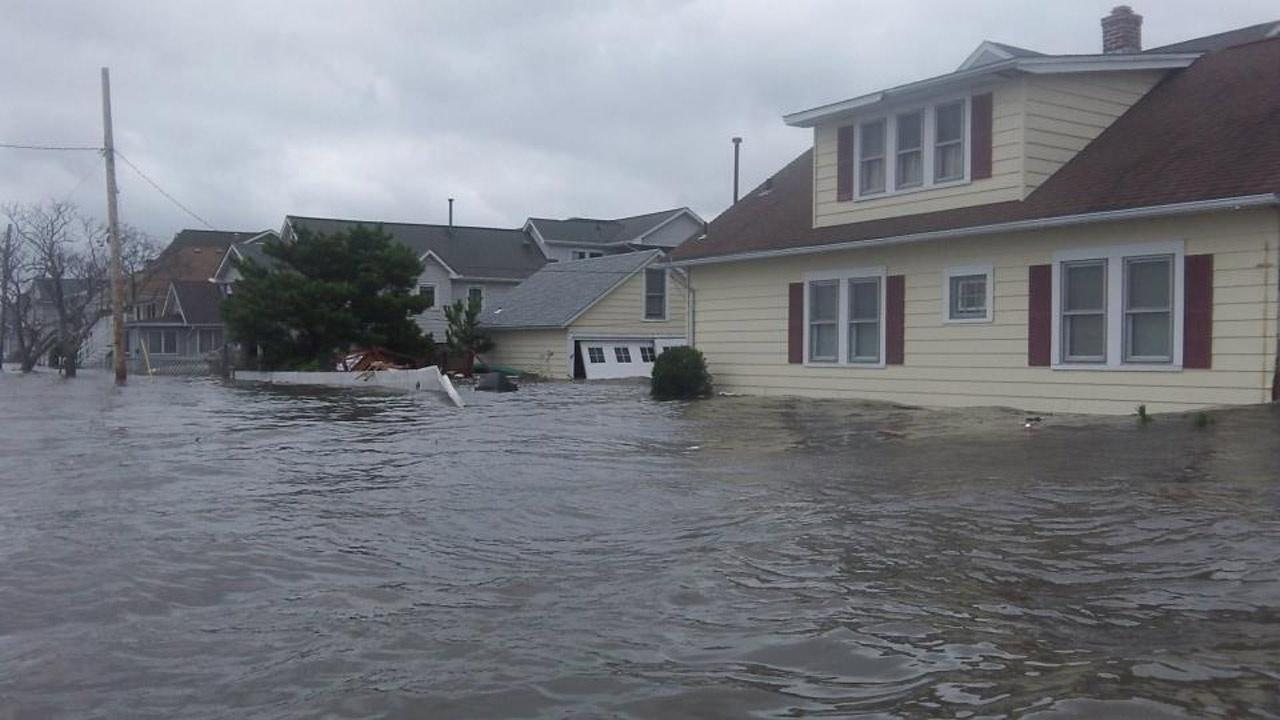 A flooded street in Seaside Heights, N.J., is seen in the wake of Superstorm Sandy on Tuesday, Oct. 30, 2012. <span class=meta>(Tim Husar and Jan Humphreys)</span>