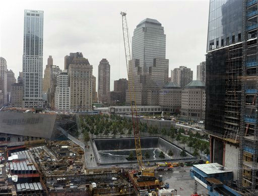 "<div class=""meta ""><span class=""caption-text "">A view of the World Trade Center North Tower memorial pool at the National September 11 Memorial & Museum New York,Tuesday, Sept. 6, 2011.  (AP Photo/Susan Walsh, POOL) (AP Photo/ Susan Walsh)</span></div>"
