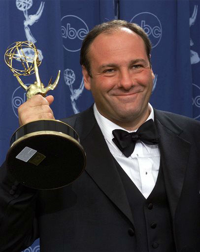 FILE - This Sept. 10, 2000 file photo shows actor James Gandolfini with his award for outstanding lead in a drama series for his work in &#34;The Sopranos&#34; at the 52nd Annual Primetime Emmy Awards in Los Angeles. HBO and the managers for Gandolfini say the actor died Wednesday, June 19, 2013, in Italy. He was 51. &#40;AP Photo&#47;Kevork Djansezian, file&#41; <span class=meta>(AP Photo&#47; KEVORK DJANSEZIAN)</span>