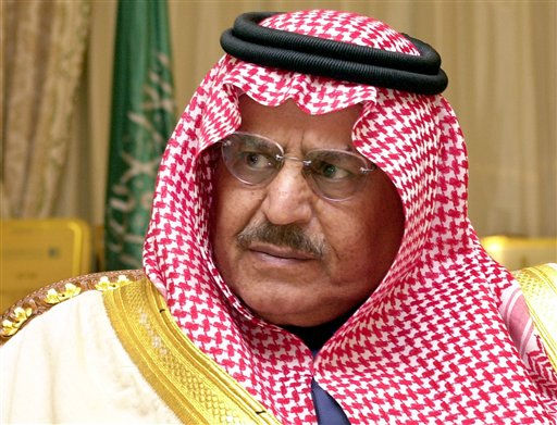 "<div class=""meta ""><span class=""caption-text "">FILE - In this Wednesday, Feb. 5, 202 file photo, Saudi Interior Minister Prince Nayef is seen during an interview with The Associated Press at his office in Riyadh, Saudi Arabia. Saudi Arabia said Saturday, June 16, 2012 that Crown Prince Nayef has died in a US hospital.(AP Photo/Hasan Jamali)</span></div>"
