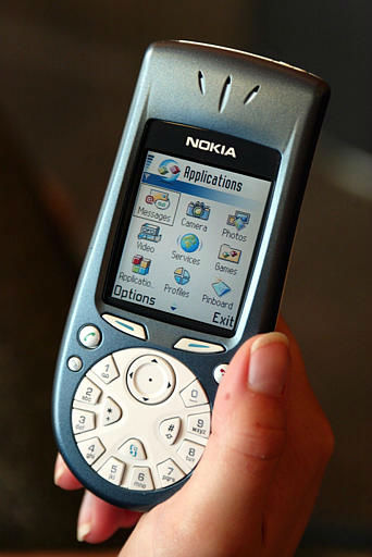 A video handset being unveiled by Nokia in Helsinki, Finland Friday, Sept. 6, 2002. The world&#39;s largest cell phone maker unveiled the Nokia 3650 model, with a color screen and features a camera and video player with the possibility of extended memory for storage of pictures, games and other files. The new model provides users with multimedia messaging and video clips, as well as access to the Internet and e-mail services. &#40;AP Photo&#47;LEHTIKUVA &#47;HEIKKI SAUKKOMAA&#41; <span class=meta>(AP Photo&#47; HEIKKI SAUKKOMAA)</span>