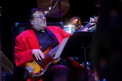 In this April 16, 2003 photo, Bob Babbitt, of the Funk Brothers, plays bass during the Funk Brothers performance at Ohio Theatre in Cleveland&#39;s Playhouse Square district. Motown Museum chief curator Lina Stephens says Babbitt died Monday, July 16, 2012, in Nashville, Tenn. He was 74. &#40;AP Photo&#47;Luke Palmisano&#41; <span class=meta>(AP Photo&#47; Luke Palmisano)</span>