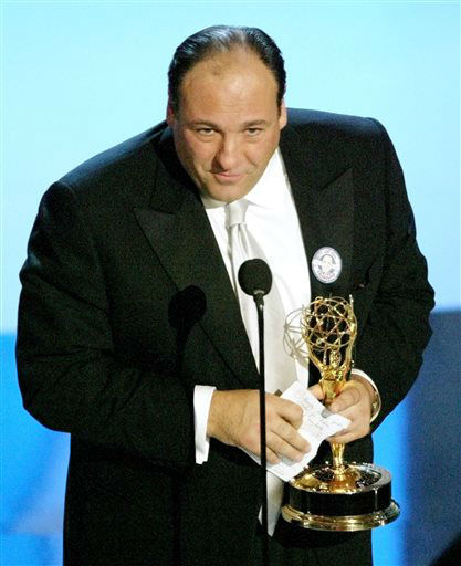 FILE - This Sept. 21, 2003 file photo shows actor James Gandolfini accepting the award for outstanding lead actor in a drama series for his work on ?The Sopranos? at the 55th Annual Primetime Emmy Awards in Los Angeles. HBO and the managers for Gandolfini say the actor died Wednesday, June 19, 2013, in Italy. He was 51. &#40;AP Photo&#47;Kevork Djansezian, file&#41; <span class=meta>(AP Photo&#47; KEVORK DJANSEZIAN)</span>