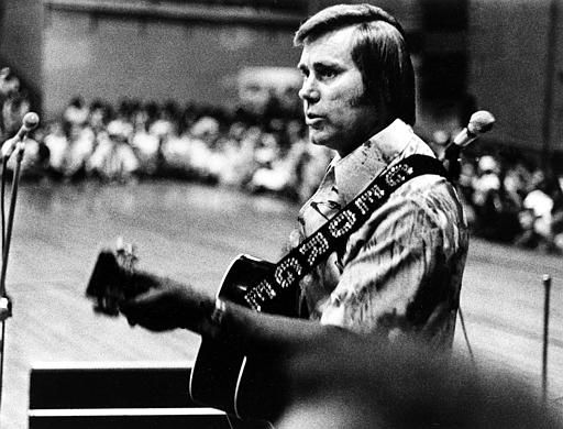 Country singer George Jones is shown performing with his guitar in this undated photo.  &#40;AP Photo&#41; <span class=meta>(AP Photo&#47; XNBG)</span>