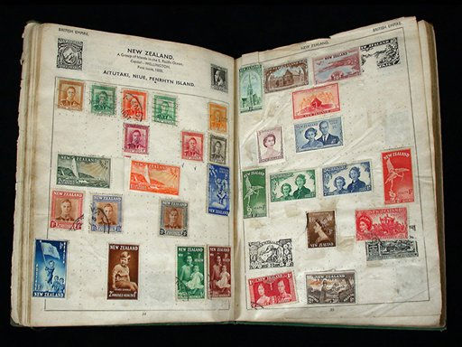 "<div class=""meta ""><span class=""caption-text "">In this undated photograph provided by the Smithsonian National Postal Museum, pages in a stamp album owned by John Lennon are seen.  The album, purchased in June by the museum, is scheduled to go on exhibit Thursday, Oct. 6, 2005 at the museum in Washington.  (AP Photo/National Postal Museum, HO) (AP Photo/ Anonymous)</span></div>"