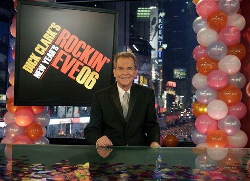 "<div class=""meta image-caption""><div class=""origin-logo origin-image ""><span></span></div><span class=""caption-text"">This photo provided by ABC Jan. 1, 2006 shows Dick Clark _ the personality who's been ringing in the New Year for decades making his first television appearance since a stroke in late 2004 Saturday Dec. 31, 2005 during ABC's broadcast of the festivities in New York's Times Square to ring in the New Year 2006. Clark sounded hoarse and occasionally was hard to understand, but he said, ""I wouldn't have missed this for the world."" (AP Photo/ABC News) (AP Photo/ Anonymous)</span></div>"