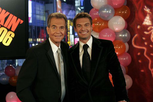 This photo provided by ABC Jan. 1, 2006 shows Dick Clark posing with Ryan Seacrest Saturday Dec. 31, 2006.  Stroke survivors and those who treat them are cheered by Dick Clark&#39;s New Year&#39;s Eve appearance.  &#40;AP Photo&#47;ABC News&#41; <span class=meta>(AP Photo&#47; Anonymous)</span>