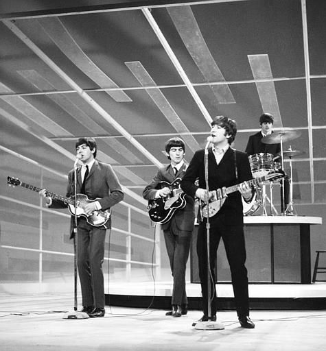 The Beatles are seen performing, date unknown.  From left to right:  Paul McCartney, George Harrison, John Lennon, and Ringo Starr on drums.  &#40;AP Photo&#41; <span class=meta>(AP Photo&#47; XMB)</span>