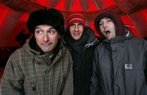The Beastie  Boys, from left, Adam Horowitz, also known as Ad-Rock, Mike Diamond, also known as Mike D, and Adam Yauch, also known as MCA, are photographed during the Sundance Film Festival  in Park City, Utah, Saturday, Jan. 21, 2006. The Beastie Boys&#39; documentary film &#34;Awesome: I Fuckin&#39; Shot That,&#34; is screening at the Festival. &#40;AP Photo&#47;Carolyn Kaster&#41; <span class=meta>(AP Photo&#47; CAROLYN KASTER)</span>