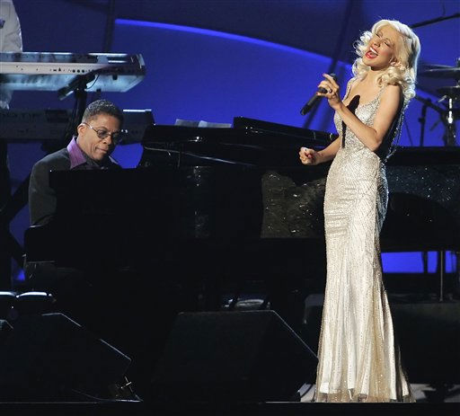 """<div class=""""meta image-caption""""><div class=""""origin-logo origin-image """"><span></span></div><span class=""""caption-text"""">Herbie Hancock and Christina Aguilera perform """"A Song for You"""" at the 48th Annual Grammy Awards on Wednesday, Feb. 8, 2006, in Los Angeles. (AP Photo/Mark J. Terrill) (AP Photo/ MARK J. TERRILL)</span></div>"""